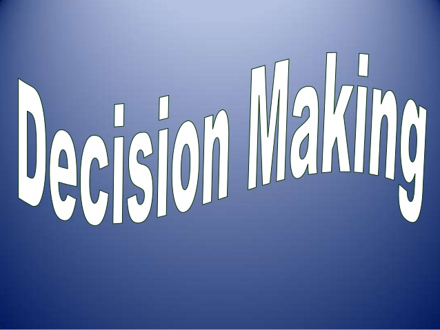 Indicating That You've Great Decision Making Skills
